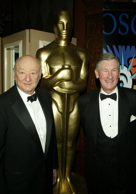 Ed Koch and Producer Robert Rehme at the AMPAS Official Oscar Night Celebration.