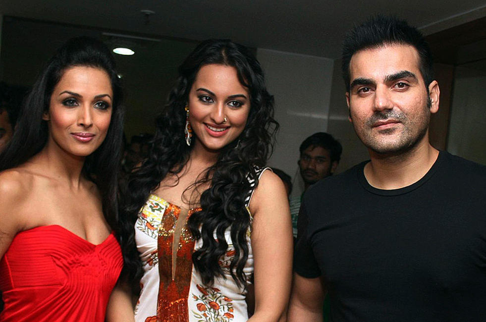 Mallaika Arora Khan, Sonakashi Sinha and Arbaaz Khan at the promotional event of