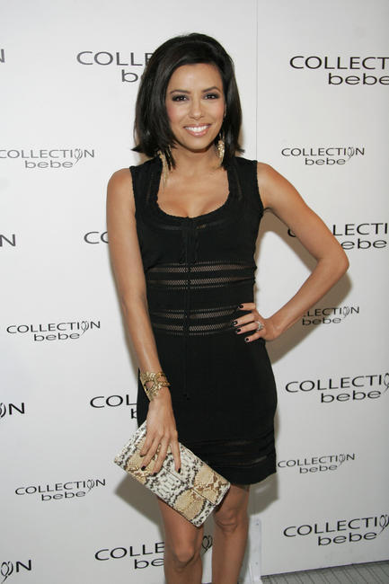 Eva Longoria Parker at the Collection Bebe Fall 2007 fashion show during Mercedes Benz Fashion Week in Culver City, California.