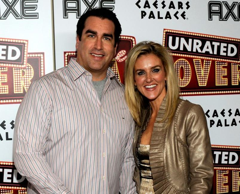 Rob Riggle and Tiffany Riggle at the DVD launch party of
