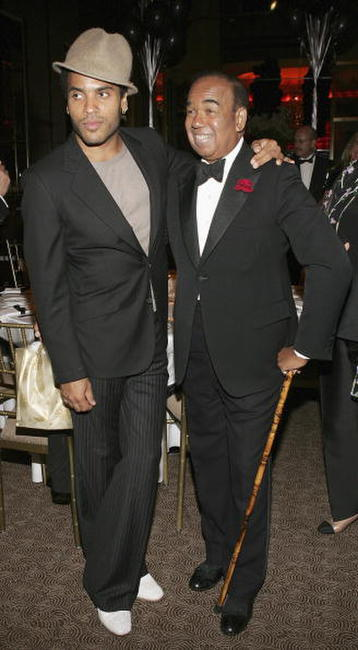 Lenny Kravitz and Bobby Short at the Surprise 80th Birthday Party For Bobby Short.