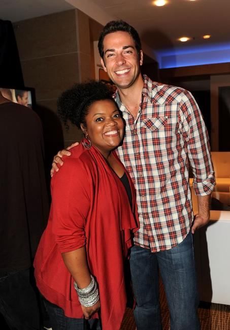 Yvette Nicole Brown and Zachary Levi at the Comic-Con 2010.
