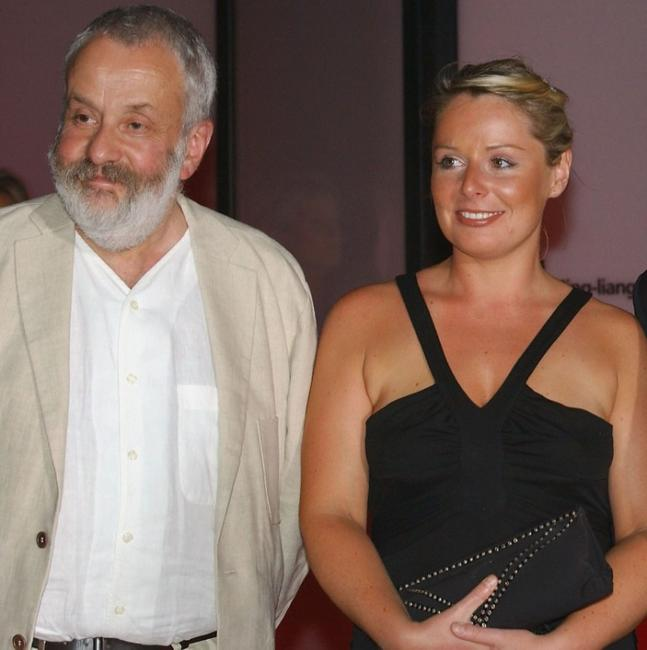 Director Mike Leigh and Heather Craney at the premiere of