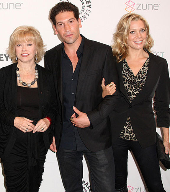 President/CEO of the Paley Center for Media Pat Mitchell, Jon Bernthal and Laurie Holden at the California premiere of