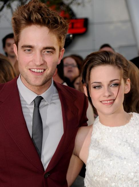 Robert Pattinson and Kristen Stewart at the California premiere of