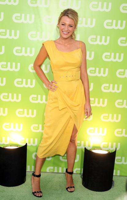 Blake Lively at the CW Television Critics Association Press Tour party.