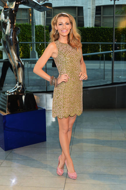 Blake Lively at the 2014 CFDA fashion awards in New York.