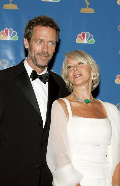 Hugh Laurie and Helen Mirren at the 58th Annual Primetime Emmy Awards.