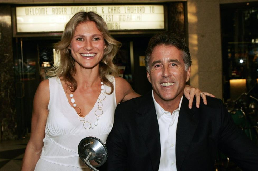 Lana Antonova and Christopher Lawford at the premiere of