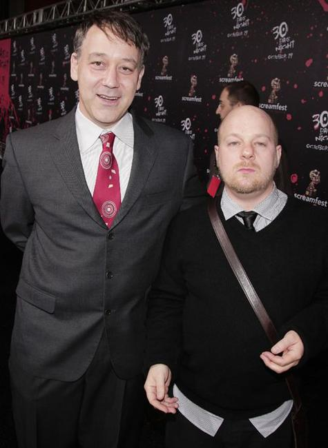 Sam Raimi and David Slade at the premiere of