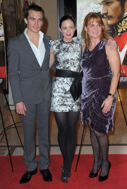 Rupert Friend, Emily Blunt and Sarah Ferguson at the California premiere of