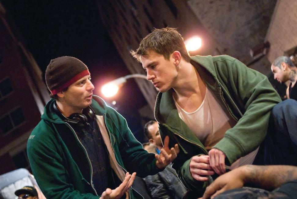 Director Dito Montiel and Channing Tatum on the set of