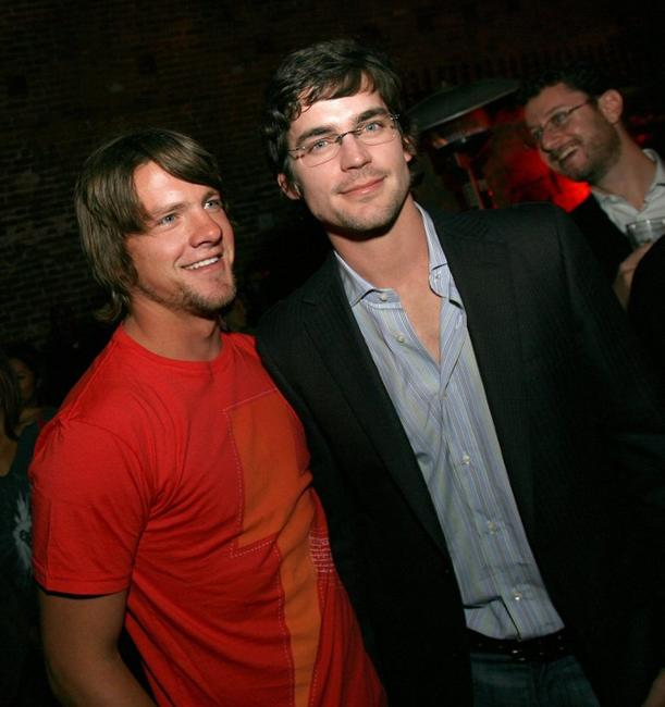 Zach Knighton and Matthew Bomer at the after party of