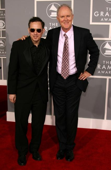 John Lithgow and JC Hopkins at the 49th Annual Grammy Awards.