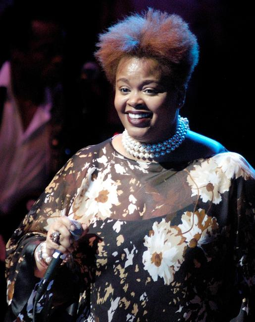 Jill Scott at the benefit concert for Hurricane Katrina relief.