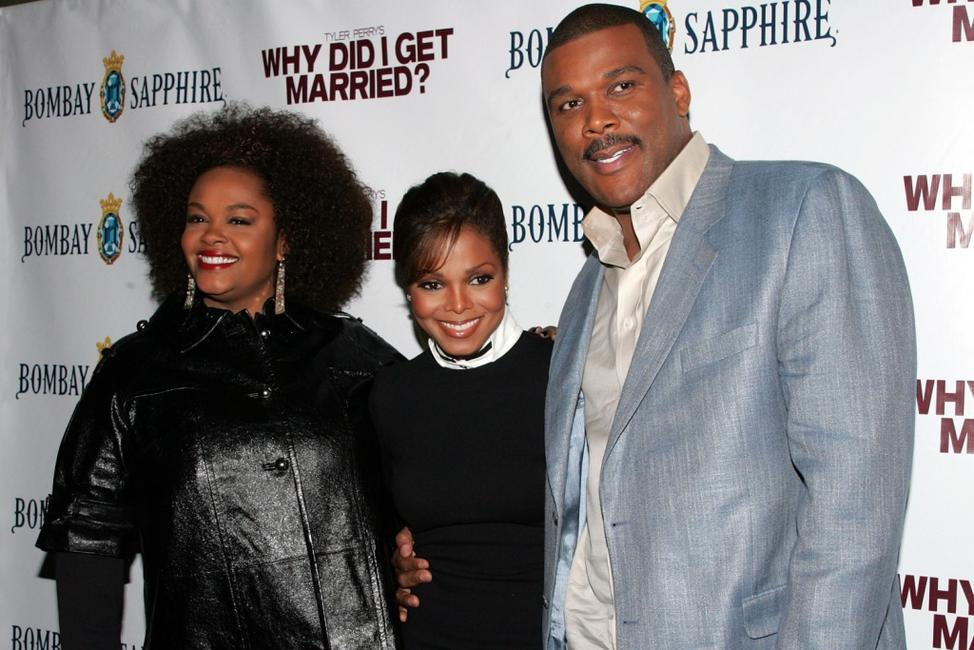Jill Scott, Janet Jackson and Tyler Perry at the premiere of