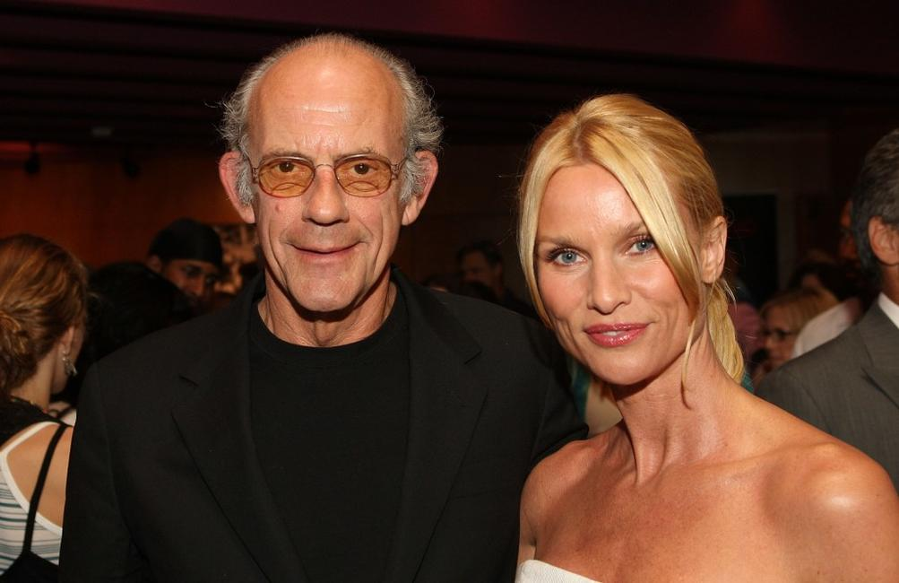 Christopher Lloyd and Nicollette Sheridan at the after party of the premiere of