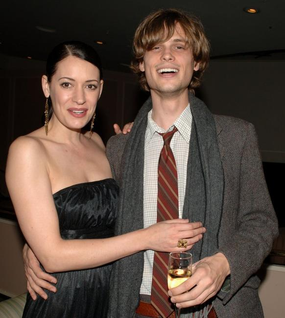 Paget Brewster and Matthew Gray Gubler at the VIP Reception during the 14th Annual Diversity Awards.