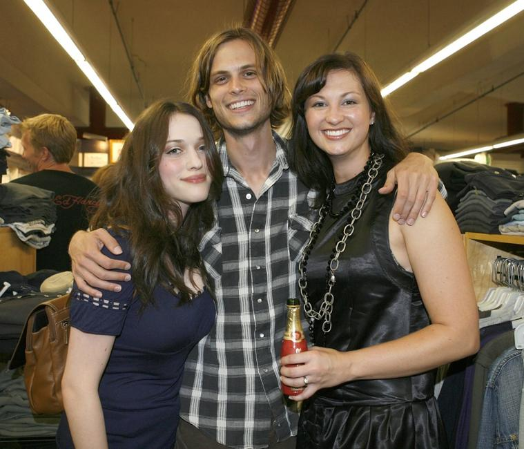 Kat Dennings, Matthew Gray Gubler and Laura Dahl at the premiere of