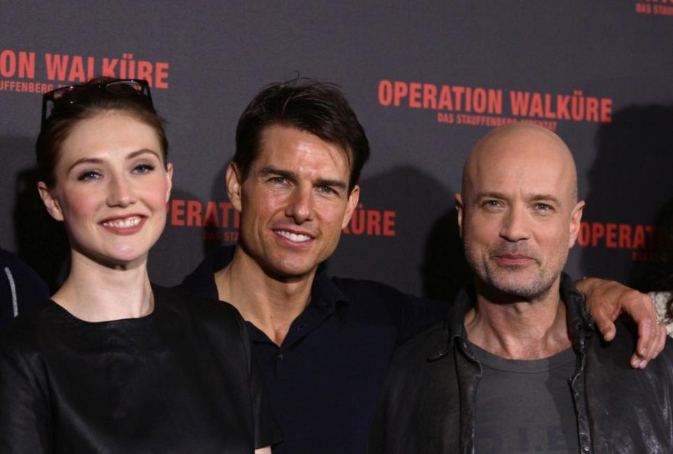 Carice van Houten, Tom Cruise and Christian Berkel at the photocall of