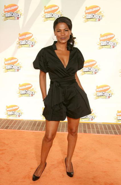 Nia Long arrives at the 20th Annual Kid's Choice Awards.