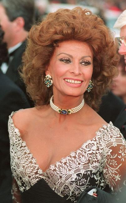 Sophia Loren at the 65th Academy awards ceremony.