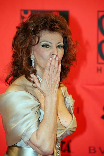 Sophia Loren at the 70 years of Cinecitta Studios Party.
