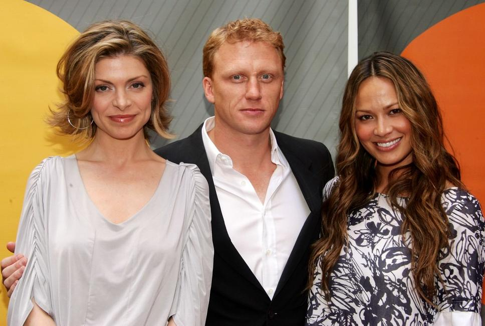 Gretchen Egolf, Kevin McKidd and Moon Bloodgood at the NBC Upfronts.