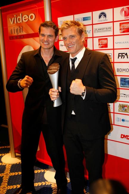 Gstz Otto and Dolph Lundgren at the video night 2008.