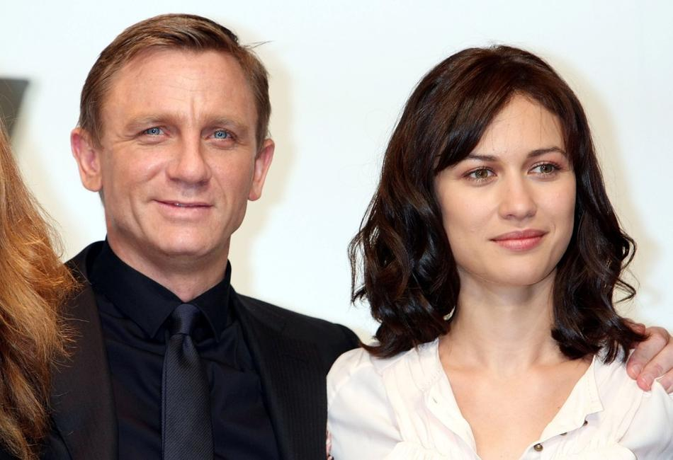 Daniel Craig and Olga Kurylenko at the press conference of