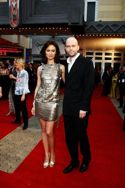 Olga Kurylenko and Director Marc Forster at the Australian premiere of