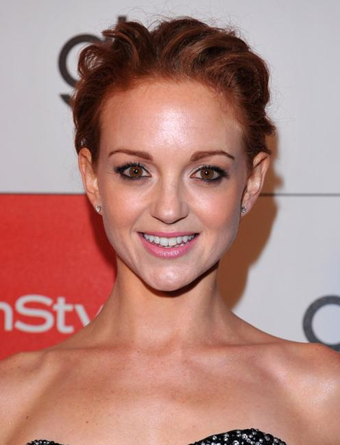 Jayma Mays at the InStyle and 20th Century Fox's party celebrating Glee's 4 Golden Globe nominations.