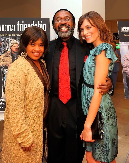 Chandra Wilson, Ben Vereen and Kathleen Munroe at the world premiere screening of