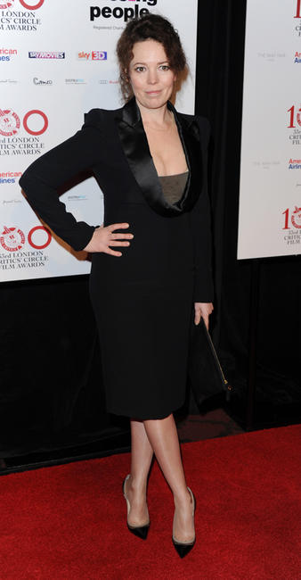 Olivia Colman at the London Critics' Circle Film Awards in England.