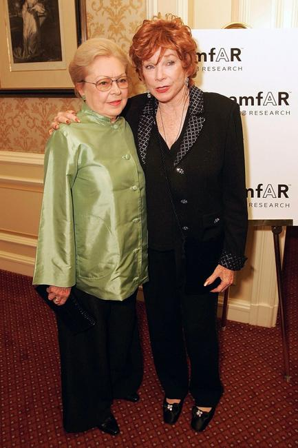 Shirley MacLaine and Dr. Mathilde Krim at the Annual American Foundation for Aids Research.