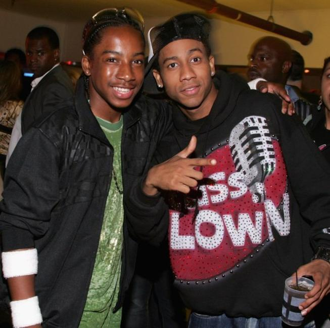 Lil JJ and Brandon T. Jackson at the after party of the premiere of