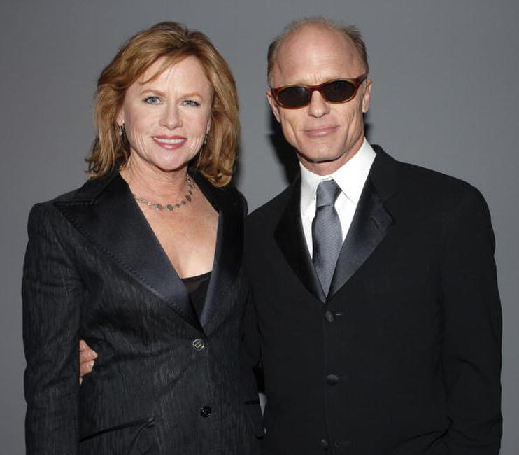 Amy Madigan and her husband Ed Harris at the 12th Annual Screen Actors Guild Awards at Los Angeles Shrine Exposition Center.