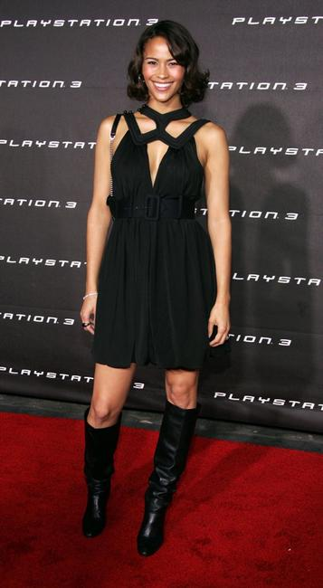 Paula Patton at the Launch Party for Sony Computer Entertainment America Playstation 3.
