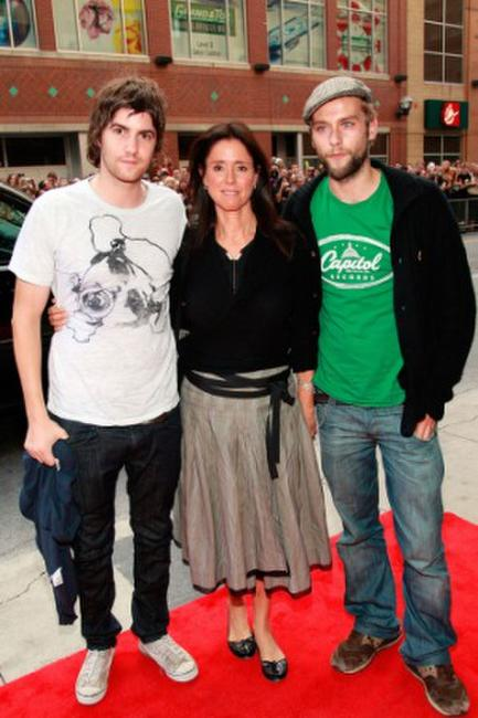 Jim Sturgess, director Julie Taymor and Joe Anderson at the North American premiere screening of
