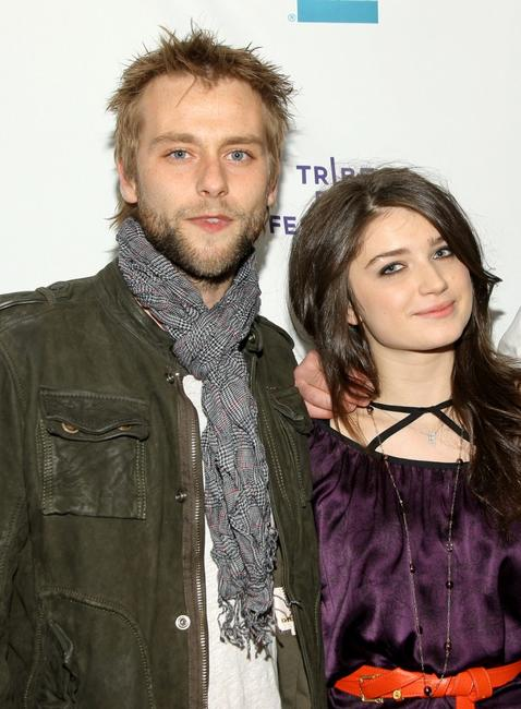 Joe Anderson and Eve Hewson at the premiere of
