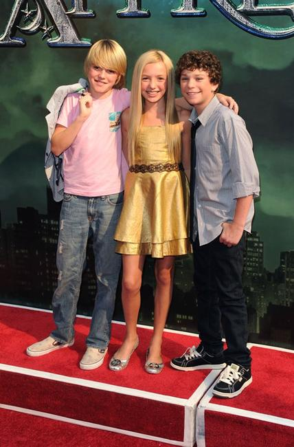 Spencer List, Peyton List and Jake Cherry at the premiere of