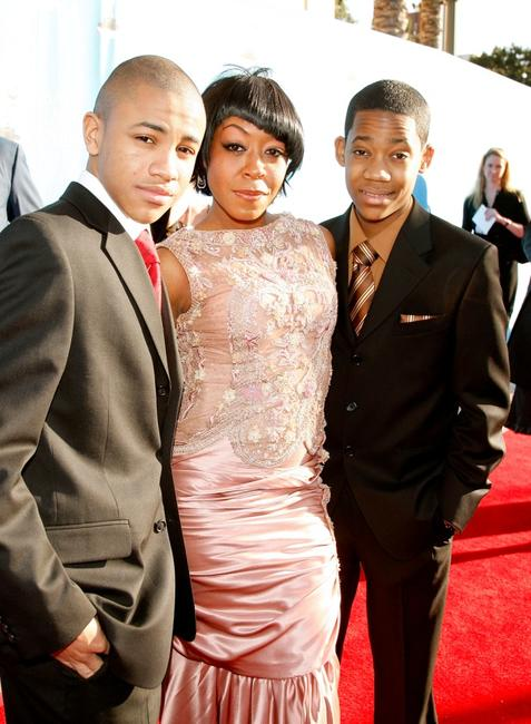 Tequan Richmond, Tichina Arnold and Tyler James Williams at the 39th NAACP Image Awards.
