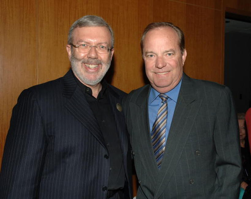 Leonard Maltin and Ronald Fields at the celebration of comedic icon W. C. Fields at the Academy of Motion Picture Arts and Sciences.