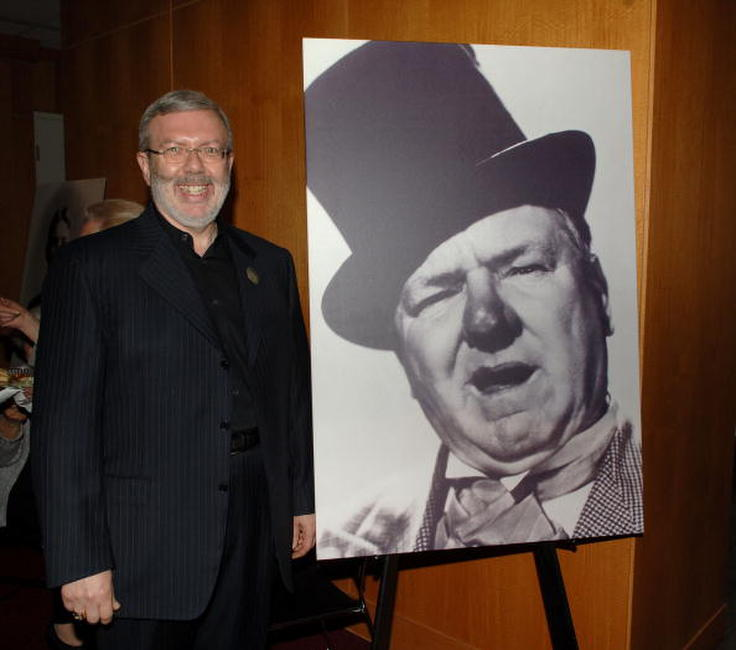 Leonard Maltin at the celebration of comedic icon W. C. Fields at the Academy of Motion Picture Arts and Sciences.