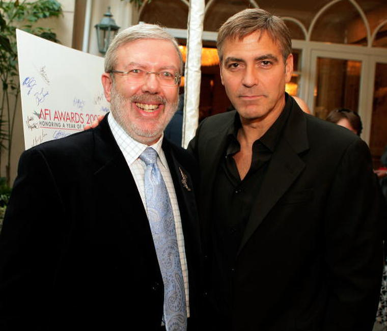 Leonard Maltin and George Clooney at the 8th Annual AFI Awards.