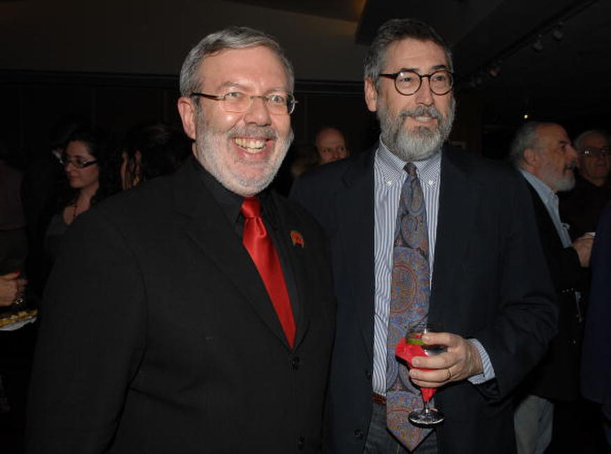 Leonard Maltin and John Landis at the premiere of the restored 3D classic