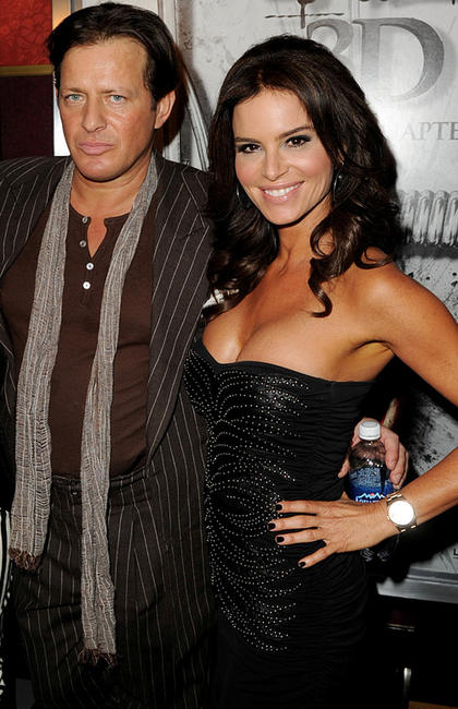 Costas Mandylor and Betsy Russell at the screening of