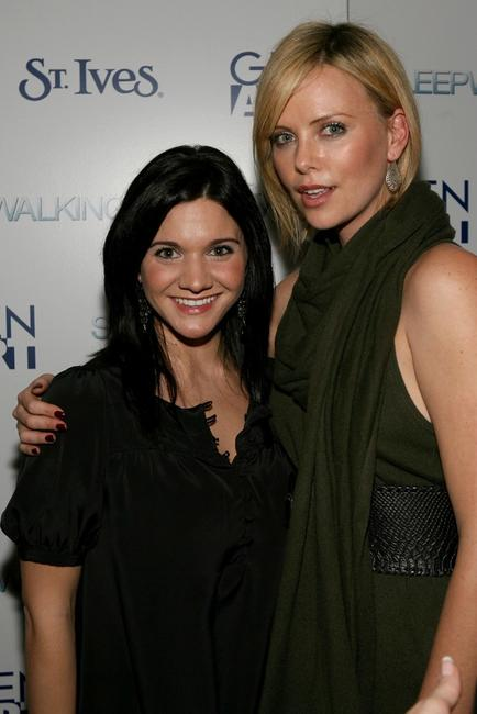 Amy Matysio and Charlize Theron at the party of