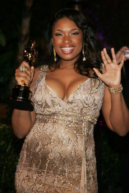 Jennifer Hudson at the 2007 Vanity Fair Oscar Party.