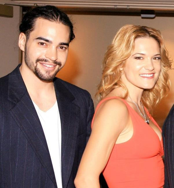 Ramon Rodriguez and Victoria Pratt at the premiere screening of